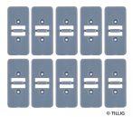 Tillig 87974 LUNA villamosvágány: Rögzítőelem párhuzamos pályához, 10 db (H0, H0m/TT)