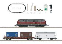 Trix 11146 Analóg kezdőkészlet: BR 218 dízelmozdony tehervonattal, DB, ovál pályával (E4) (N)