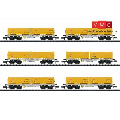 Trix 15075 Konténerszállító négytengelyes teherkocsi-készlet, 6-részes Sgmmns 190, billencskonténerekkel, AAE (E6) (N)