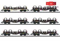 Trix 15080 Konténerszállító négytengelyes teherkocsi-készlet, 6-részes, acélhenger rakománnyal, AAE (E6) (N)