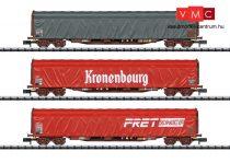 Trix 15115 Ponyvás négytengelyes teherkocsi-készlet, 3-részes Rils, SNCF (E6) (N)