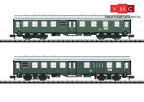 Trix 15409 Négytengelyes személykocsi-pár, Umbauwagen, 1./2. osztály + 2. osztály/poggyásztér, DB (E3) (N) - belső világítással