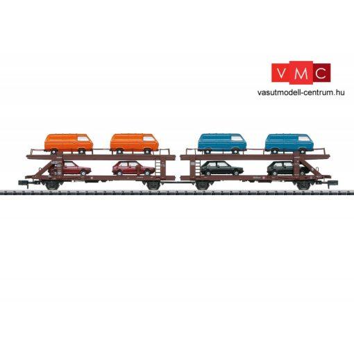 Trix 15442 Autószállító iker-teherkocsi, VW autó és mikróbusz rakománnyal, DB (E4) (N)