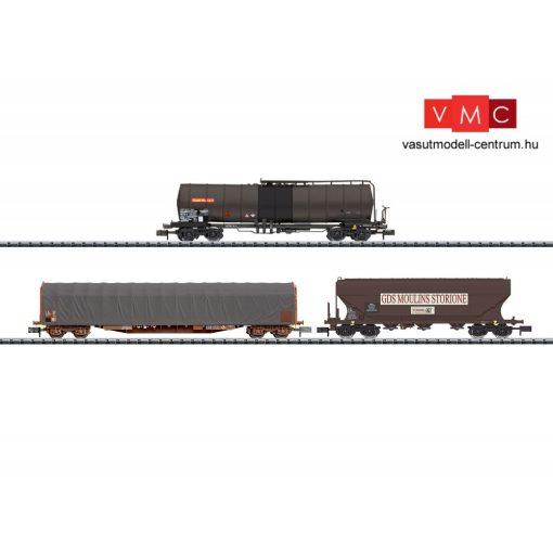 Trix 15448 Teherkocsi-készlet, négytengelyes ponyvás, tartály és gabonaszállító, SNCF (
