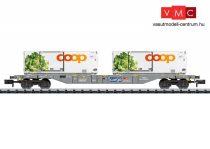 Trix 15470 Konténerszállító négytengelyes teherkocsi, Sgns, 2 db hűtőkonténerrel - Coop, SBB (E6) (N)