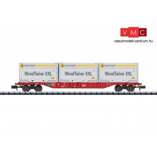 Trix 15519 Konténerszállító négytengelyes teherkocsi, Sgns, 3 db Woodtainer XXL konténerrel - Innofreight, DB-AG (E6) (N)