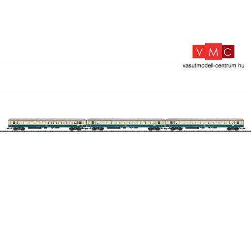 Trix 15639 Személykocsi-készlet, 3-részes négytengelyes ABm, 2x Bm, D796 gyorsvonat, DB (E4) (N)
