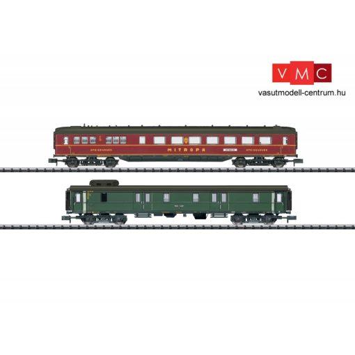 Trix 15801 Személykocsi-pár, négytengelyes WR4ü étkezőkocsi + Pw4ü-37 poggyászkocsi, DR
