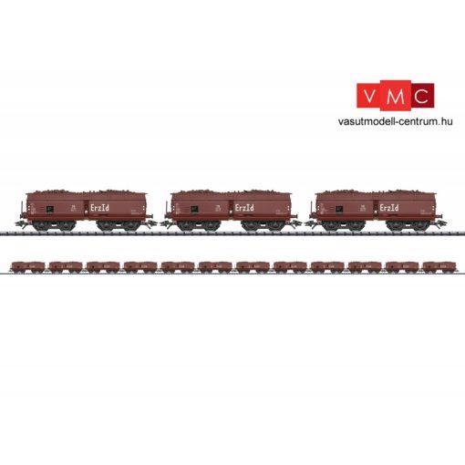 Trix 24120 Önürítős négytengelyes teherkocsi-készlet, 12-részes Erz Id, vasérc rakománnyal, DB (E3) (H0)