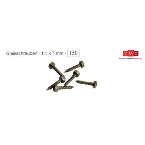 Trix 66548 Sínrögzítő csavar, 150 db (H0, N)