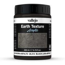 Vallejo 26214 Stone Texture - Black Lava 200 ml - fekete mikroszemcsés paszta diorámakészít