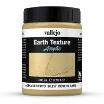 Vallejo 26217 Stone Texture - Desert Sand 200 ml, homokszínű mikroszemcsés paszta diorámakészítéshez