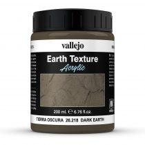 Vallejo 26218 Stone Texture - Dark Earth 200 ml, sötétbarna színű mikroszemcsés paszta dio