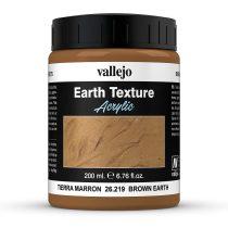 Vallejo 26219 Stone Texture - Brown Earth 200 ml, barna színű mikroszemcsés paszta diorámak