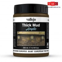 Vallejo 26807 Weathering Effects - Thick Mud European (200 ml)