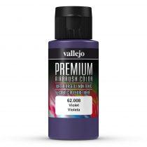 Vallejo 62008 Violet - Premium Opaque (Acrylic Polyurethane Airbrush Color) 60 ml