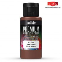 Vallejo 62017 Raw Sienna - Premium Opaque (Acrylic Polyurethane Airbrush Color) 60 ml