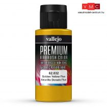 Vallejo 62032 Golden Yellow Fluo - Premium Opaque (Acrylic Polyurethane Airbrush Color) 60 ml