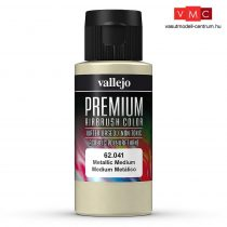 Vallejo 62041 Metallic Medium - Premium Opaque (Acrylic Polyurethane Airbrush Color) 60 ml