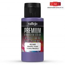 Vallejo 62045 Metallic Violet - Premium Opaque (Acrylic Polyurethane Airbrush Color) 60 ml
