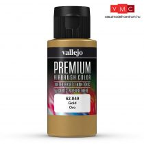 Vallejo 62049 Metallic Gold - Premium Opaque (Acrylic Polyurethane Airbrush Color) 60 ml