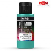 Vallejo 62077 Candy Racing Green - Premium Opaque (Acrylic Polyurethane Airbrush Color) 60 ml