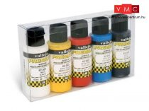 Vallejo 62101 Matt Color Set - Premium Opaque (Acrylic Polyurethane Airbrush Color) 5 x 60 ml