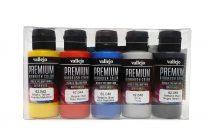 Vallejo 62103 Metalic Color Set - Premium Opaque (Acrylic Polyurethane Airbrush Color) 5 x 60 m