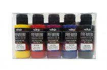 Vallejo 62104 Candy Color Set - Premium Opaque (Acrylic Polyurethane Airbrush Color) 5 x 60 ml