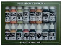 Vallejo 70107 Model Color set - German Colors WWII (16 x 17 ml color set)