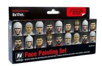 Vallejo 70119 Model Color set - Faces Painting Set (8 x 17 ml color set)