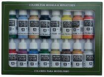 Vallejo 70140 Model Color set - Basic Colors USA (16 x 17 ml color set)