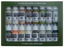 Vallejo 70141 Model Color set - Earthtones (16 x 17 ml color set)