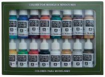 Vallejo 70142 Model Color set - Medieval Colors (16 x 17 ml color set)