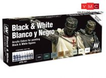 Vallejo 70151 Special Model Color set - Black and White (8 x 17 ml)