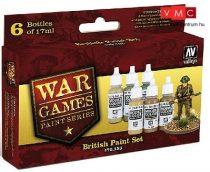Vallejo 70153 War Games Paint Series - British Paint Set (6 x 17ml)