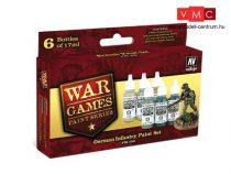 Vallejo 70154 War Games Paint Series - German Infantry Paint Set (6 x 17ml)