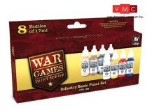 Vallejo 70156 War Games Paint Series - Infantry Basic Paint Set (8 x 17ml)