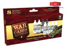 Vallejo 70157 War Games Paint Series - Vehicle Basic Paint Set (8 x 17ml)