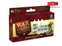 Vallejo 70158 War Games Paint Series - German SS Paint Set (6 x 17ml)