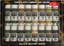 Vallejo 70179 Model Color Set - Panzer Aces Camouflage Set (16 x 17ml)
