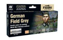 Vallejo 70181 Model Color Set - German Field Grey Uniform WWII. Set (8 x 17ml)