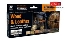 Vallejo 70182 Model Color Set - Wood and Leather Set (8 x 17ml)