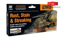 Vallejo 70183 Model Color Set - Staining, Rust & Streaking (8 x 17ml)