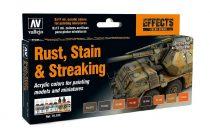 Vallejo 70183 Model Color Set - Staining, Rust & Streaking (8 x 17ml)