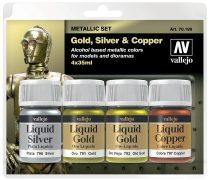 Vallejo 70199 Model Color Set - Liquid Gold Set (4 x 35ml)