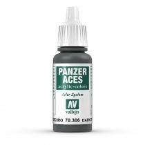 Vallejo 70306 Dark Rubber - 17 ml (Panzer Aces)
