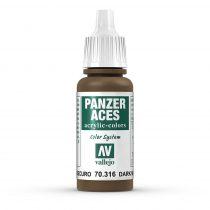 Vallejo 70316 Dark Mud - 17 ml (Panzer Aces)