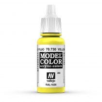 Vallejo 70730 Yellow Fluorescent - 17 ml (Model Color) (206)