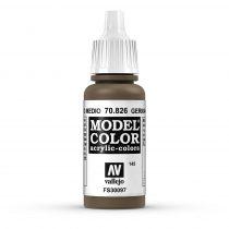 Vallejo 70826 German Camouflage Medium Brown - 17 ml (Model Color) (145)